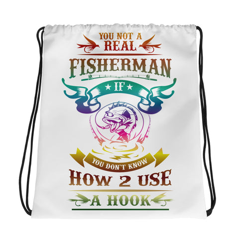 Fisherman Drawstring Bag For Real Fisherman - Certified227