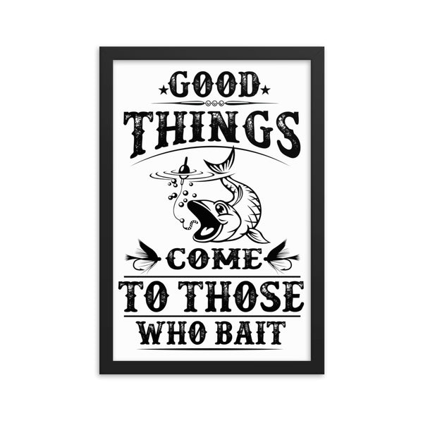 Fisherman Bait Framed Poster - Certified227
