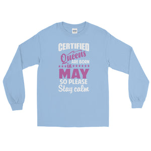 Ladies Long Sleeve May T-Shirt-Light Blue