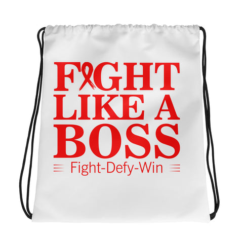 Fight Like A Boss Drawstring Bag - Certified227