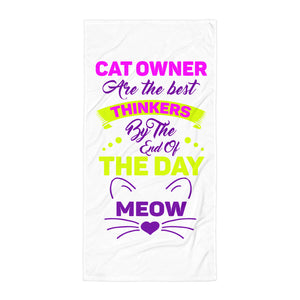 Ladies Cat Owners Beach Towel Design - Certified227