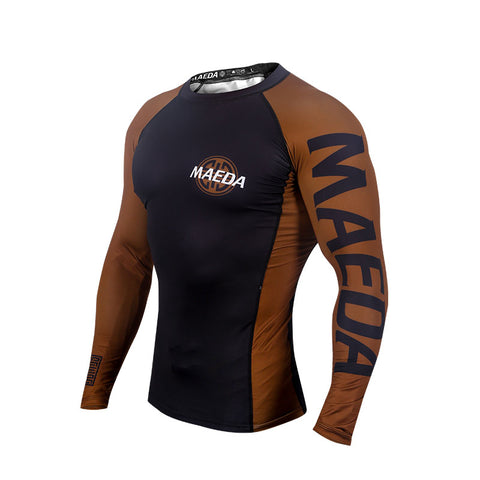 Ranked V2 Rash Guard-Brown