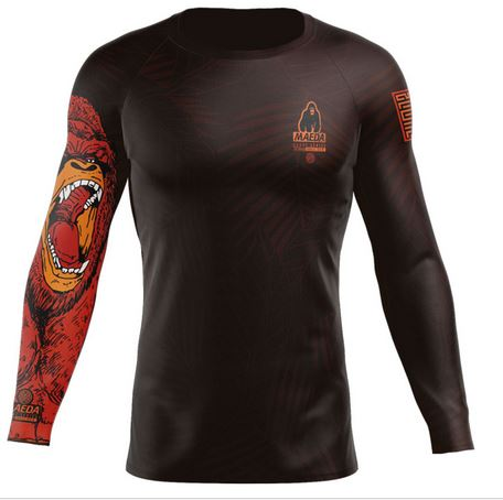 Maeda Beast Series Gorilla L/S Rash Guard (Brown)