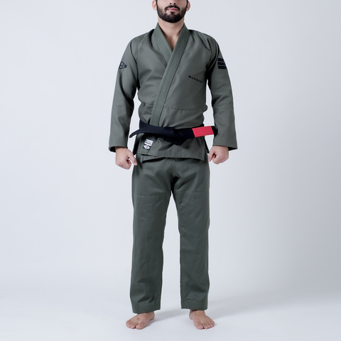 Maeda Black Label Jiu Jitsu Gi (Free White Belt) - Military Green