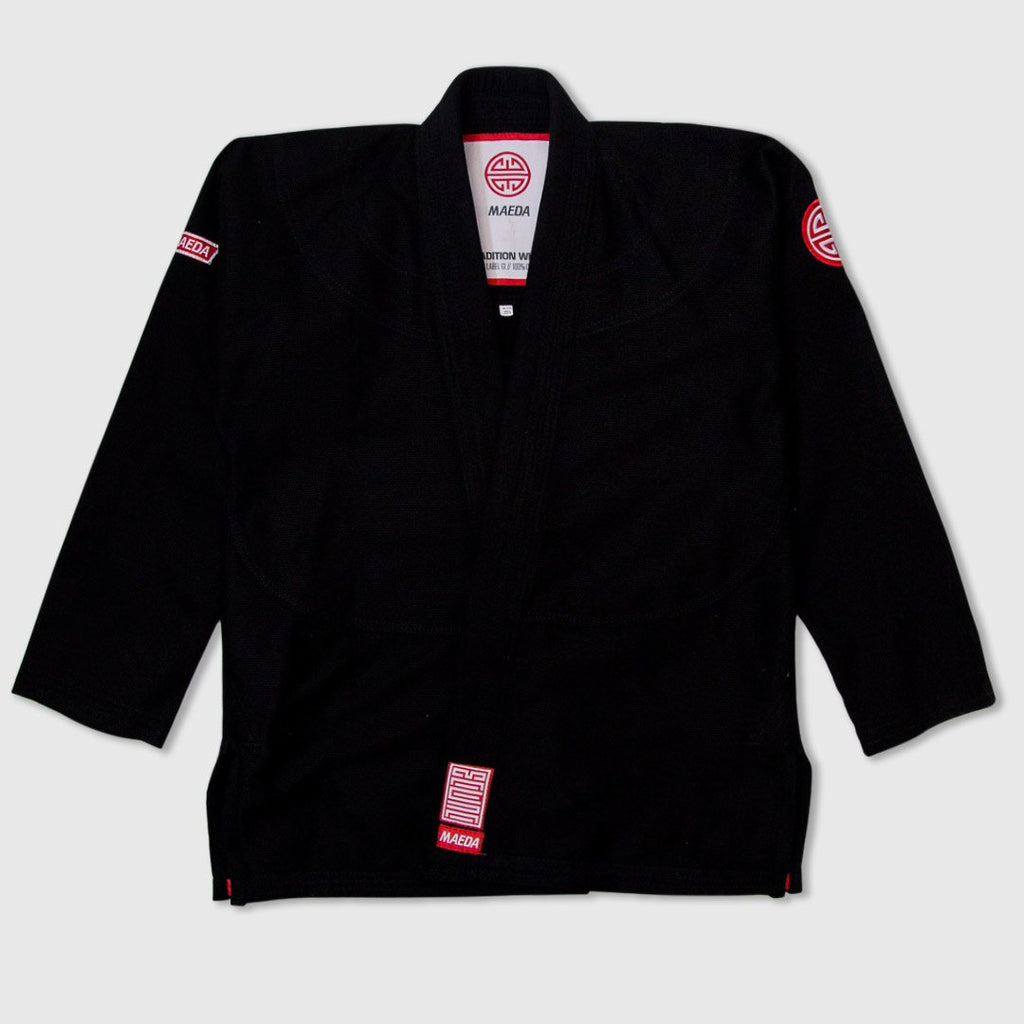 Maeda Red Label 2.0 Kid's Jiu Jitsu Gi ( Free White Belt )-Black