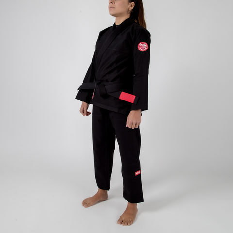 Maeda Red Label 2.0 Women's Jiu Jitsu Gi - Black ( Free White Belt )