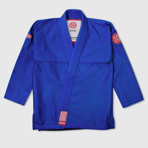 Maeda Red Label 2.0 Kid's Jiu Jitsu Gi ( Free White Belt )-Blue