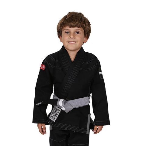 Red Label Kid's Jiu Jitsu Gi (Free White Belt) - Black