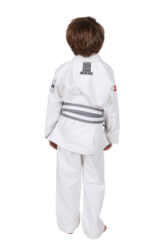 Red Label Kid's Jiu Jitsu Gi (Free White Belt)- White