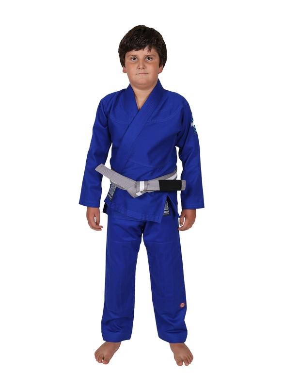 Red Label Kid's Jiu Jitsu Gi (Free White Belt) - Blue