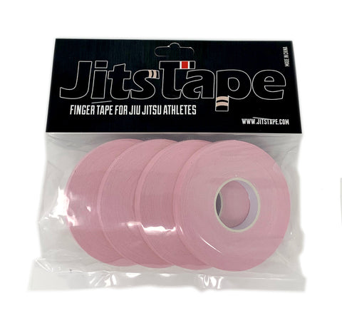 "JitsTape Finger Tape - 4 Rolls 1/3"" x 15 yards - Pink - Fighters Market"