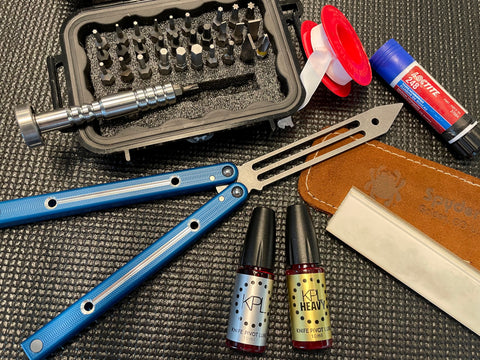 Butterfly knife maintenance kit tools