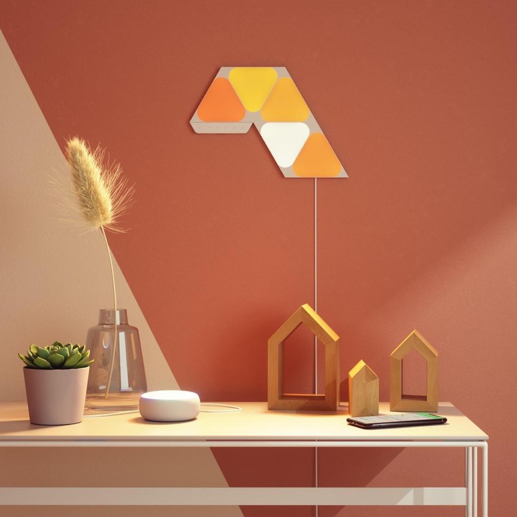 Nanoleaf Shapes Mini Triangle Starter Kit - 5 Panels