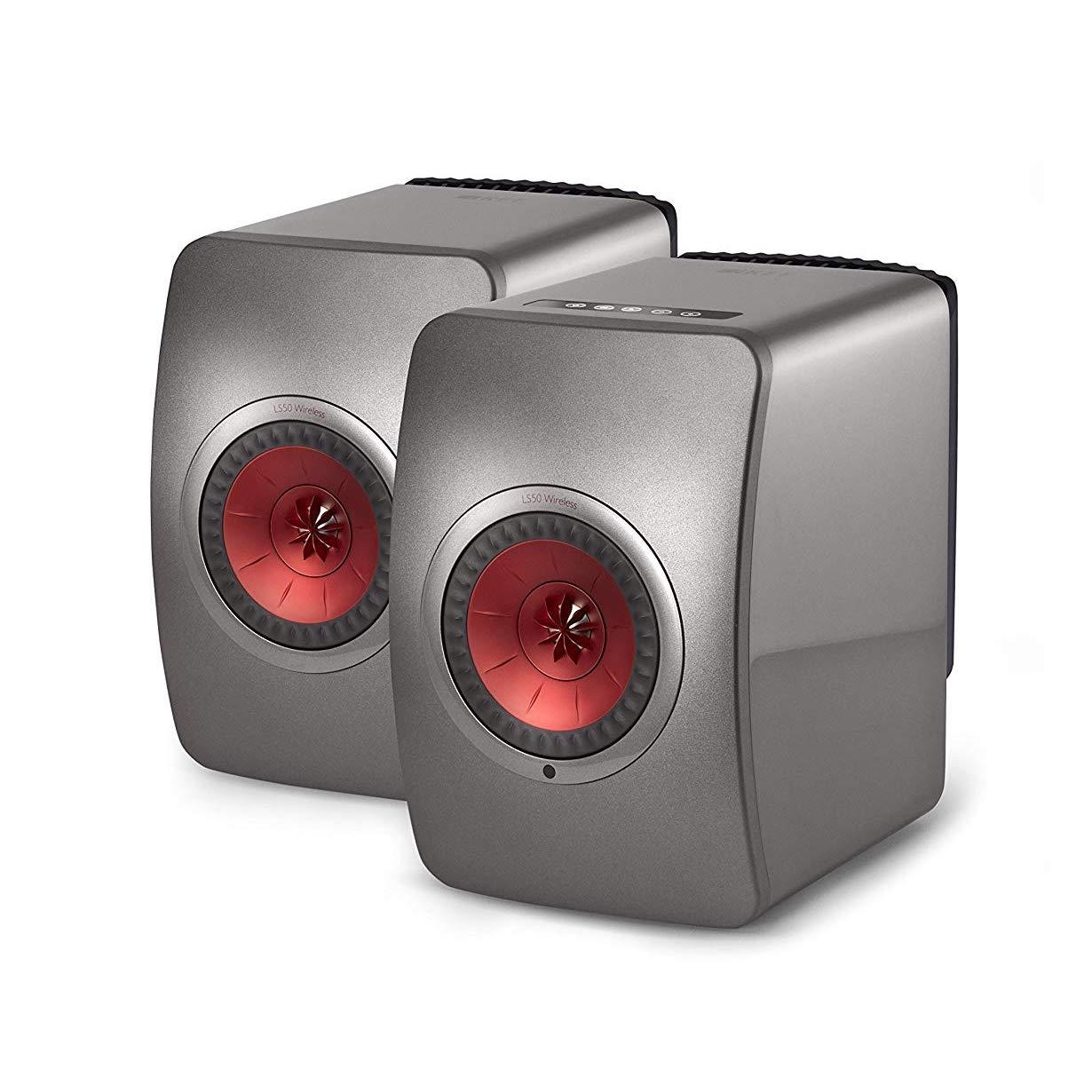 KEF LS50 - Wireless Music System - Black, KEF, Active Bookshelf Speakers - Auratech LLC