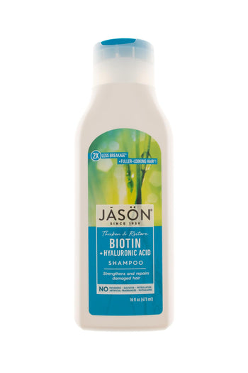 Shampoo with natural ingredients, without sulfates - Biotin from Jason