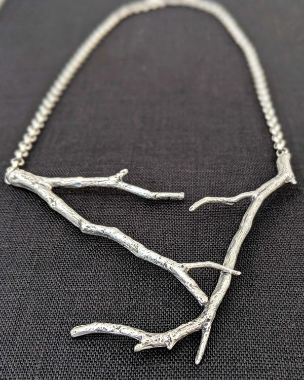 • BRANCH CAST • sterling silver necklace