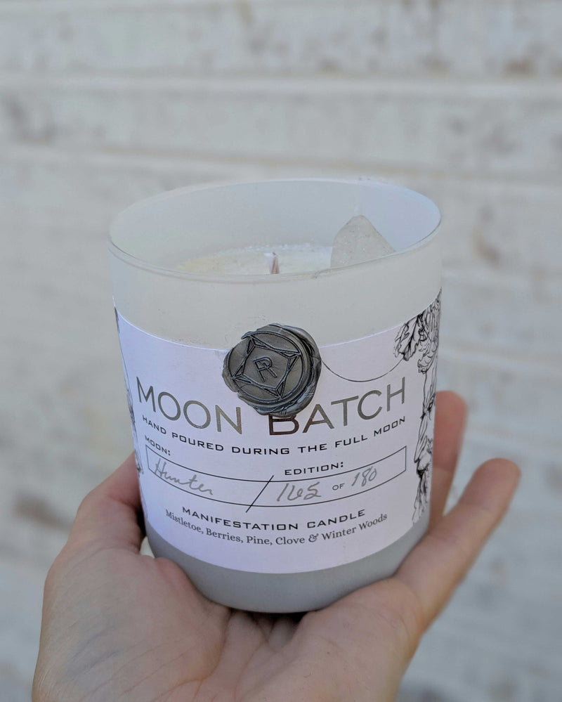 • MOON BATCH • crystal candle - winter solstice blend