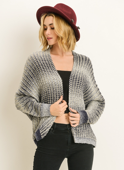 (LE LIS) soft acrylic knit marled sweate