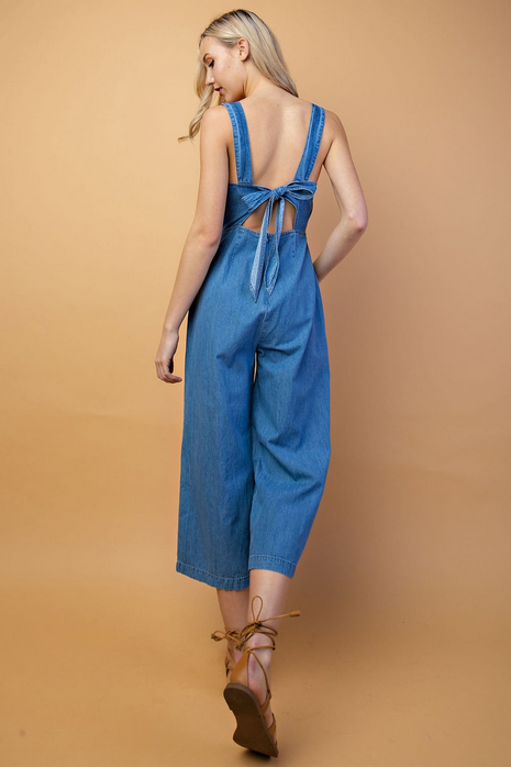 (LE LIS) 100% cotton denim overall style