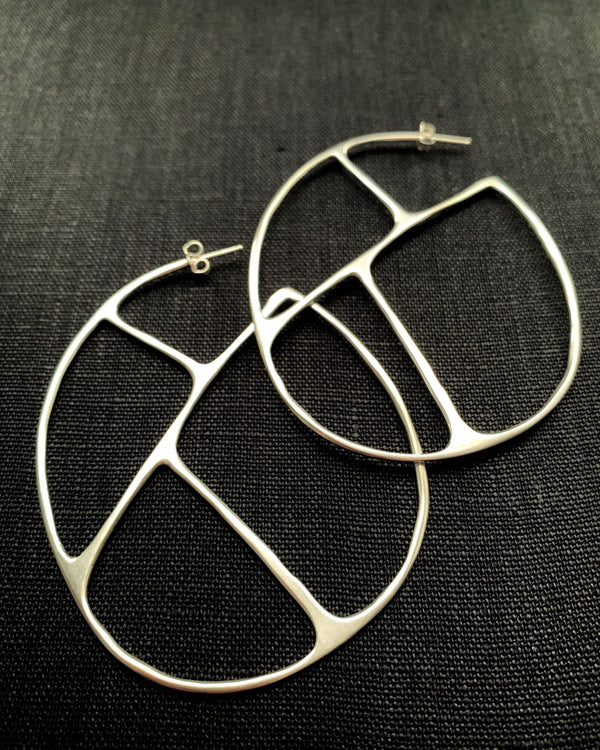• OLIVIA HOOPS • sterling silver earrings