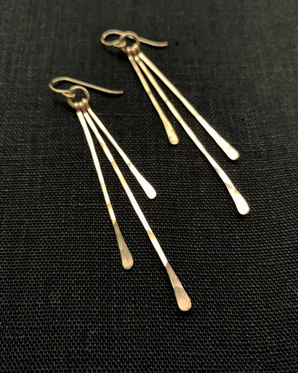 • RAIN • 14k gold filled earrings