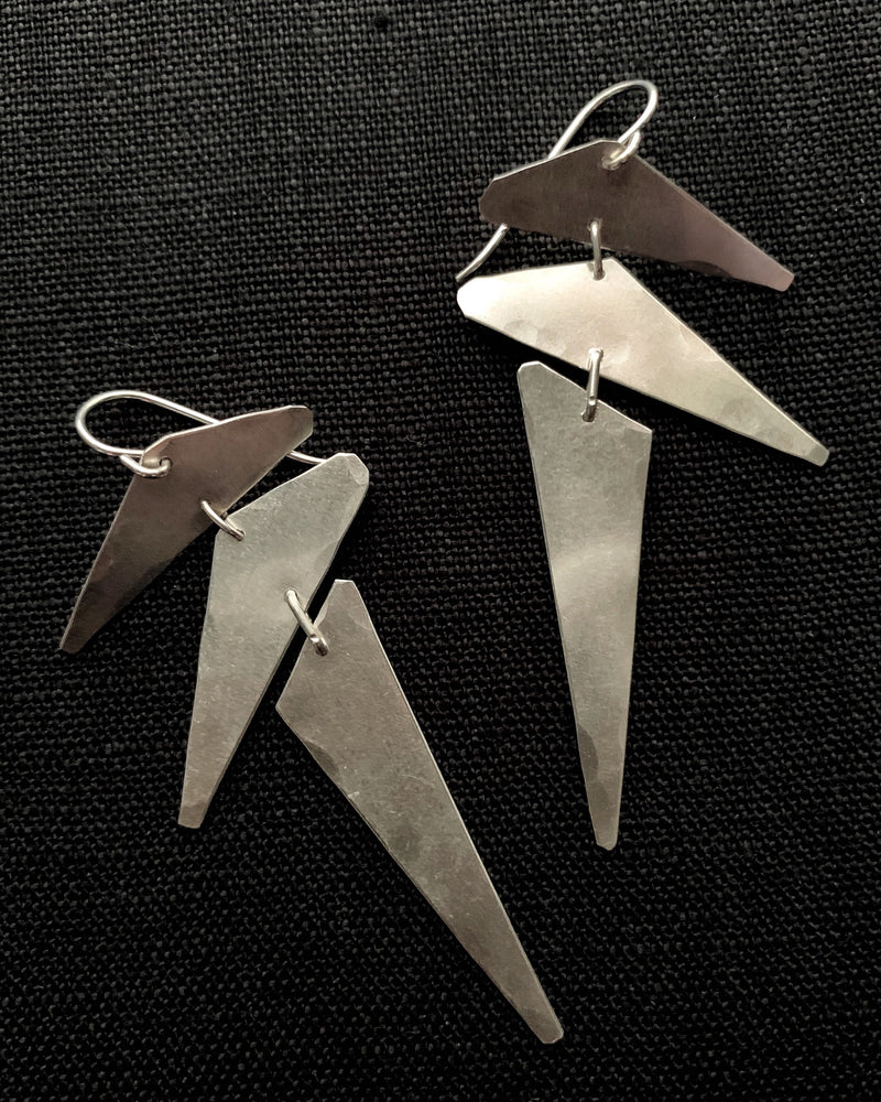 • PUNK • silver dangle earrings