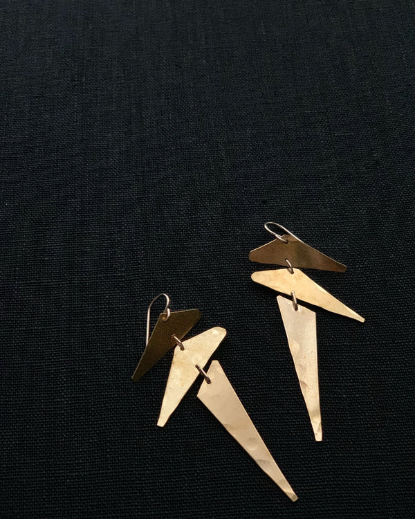 • PUNK • brass dangle earrings