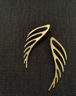 • FERN • brass post dangle earrings