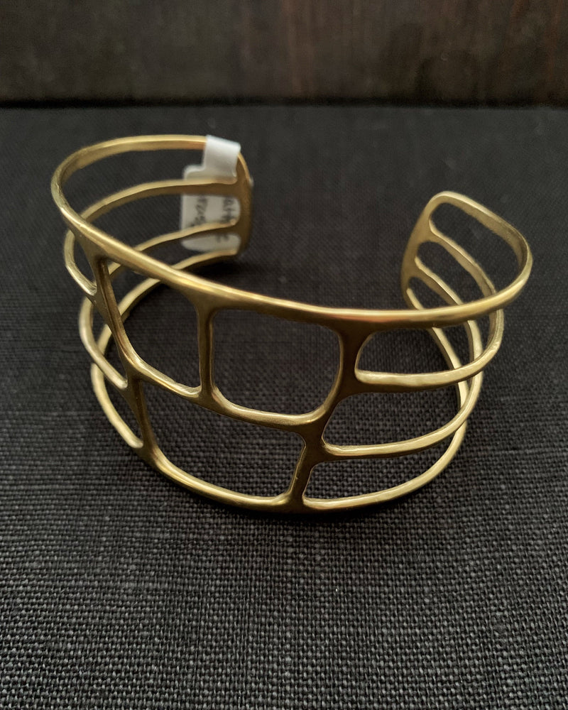 • LATTICE • brass cuff