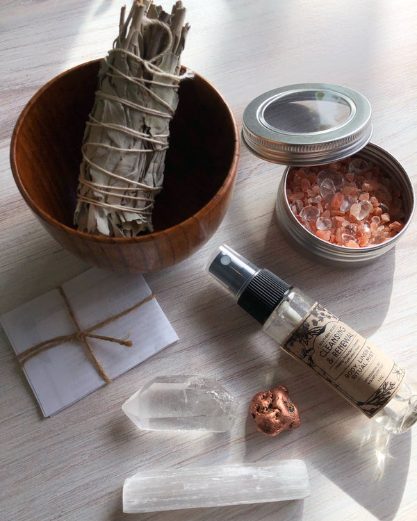 • CRYSTAL CLEANSING • ritual kit