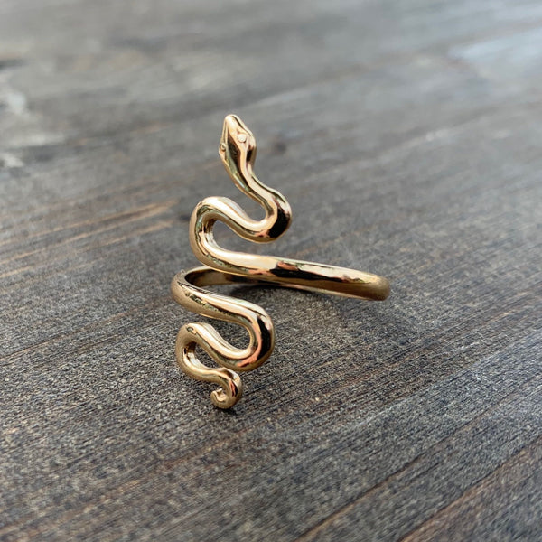 • SLITHER • adjustable ring - bronze