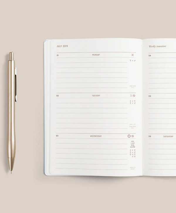 • POCKET - ASTROLOGICAL PLANNER • WHITE VEGAN LEATHER