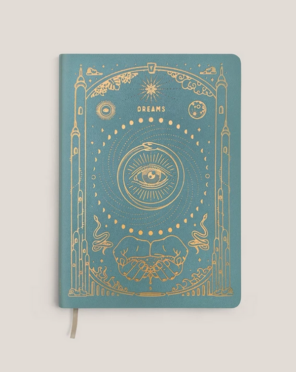 • POCKET - DREAM JOURNAL • TURQUOISE VEGAN LEATHER