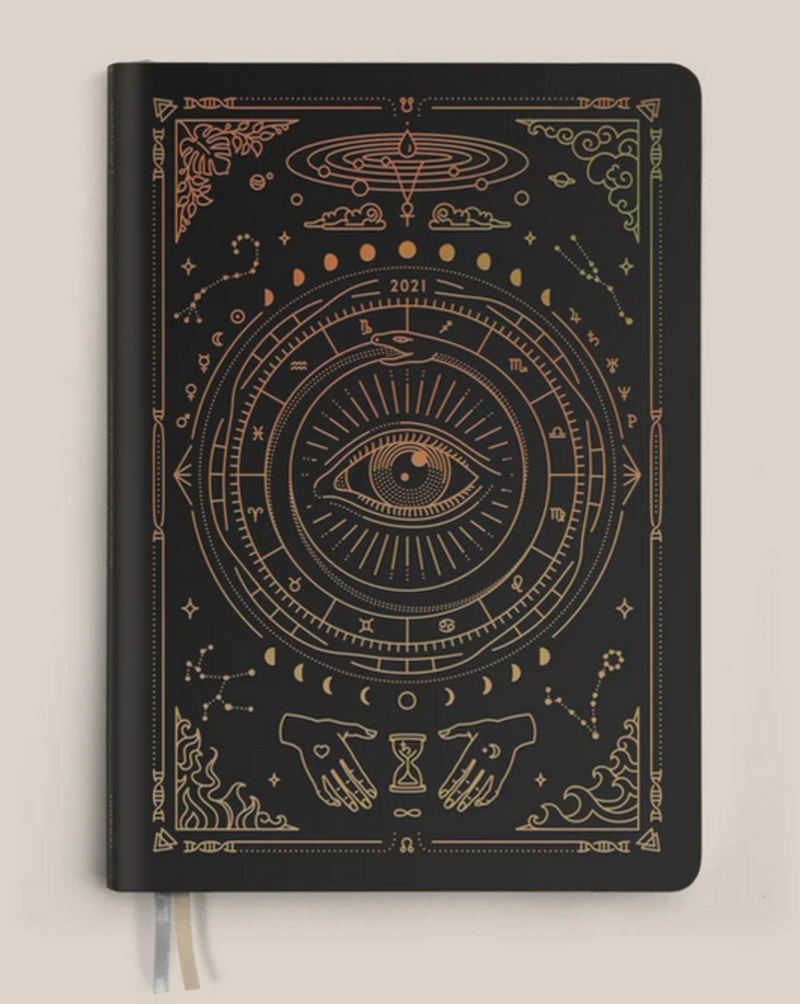 • ASTROLOGICAL PLANNER • BLACK VEGAN LEATHER
