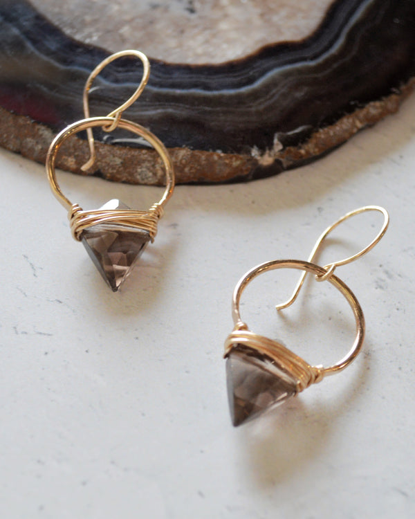 • ALBATROSS • smoky quartz earrings