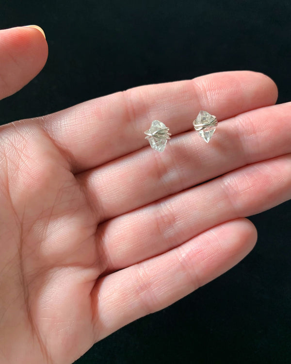 • PIKE • herkimer sterling silver stud earrings