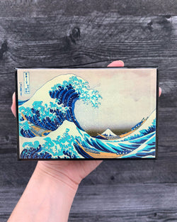 • HOKUSAI ART PRINT • large matchbox