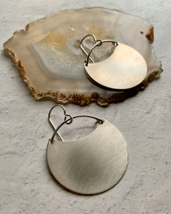 • THEIA • SILVER or GOLD SMALL BRUSHED EARRINGS