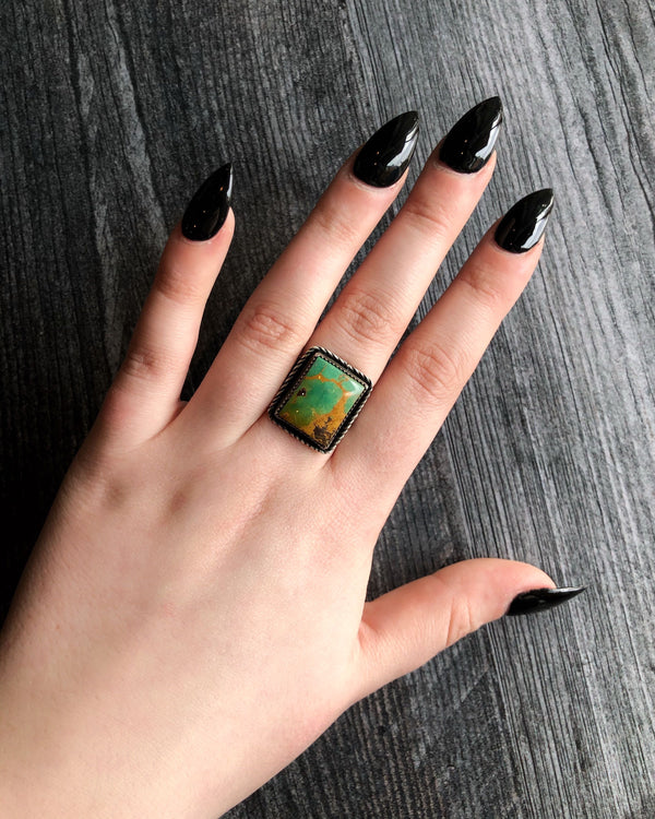 • SUPER BOWL • turquoise + silver ring