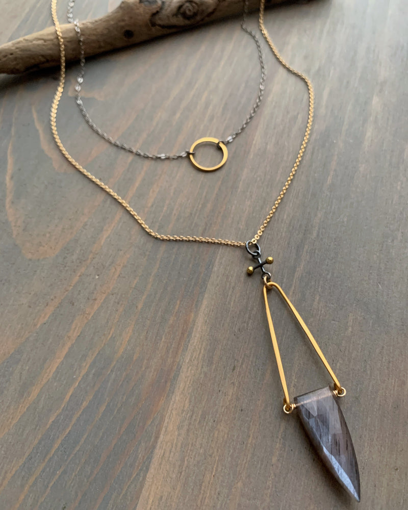 - ECLIPSE - mixed metal necklace
