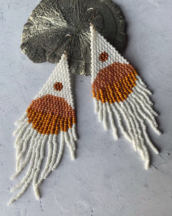 • SUN CHASERS • beaded dangle earrings