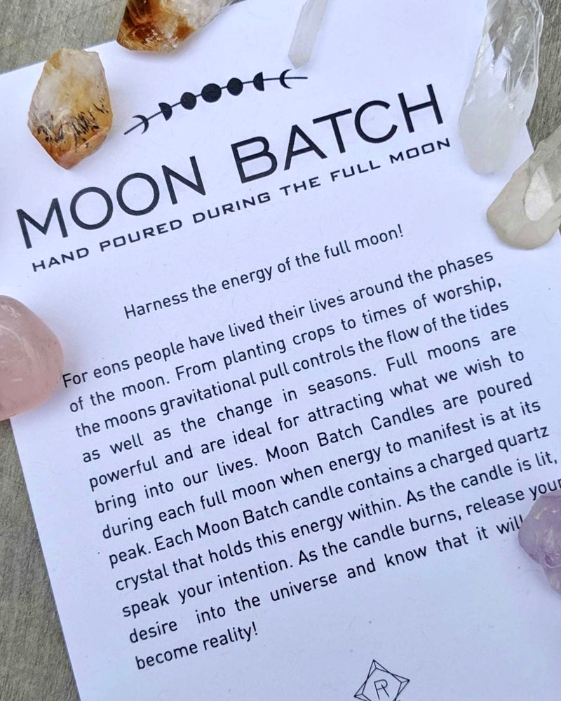 • MOON BATCH • crystal candle - nocturnal garden blend