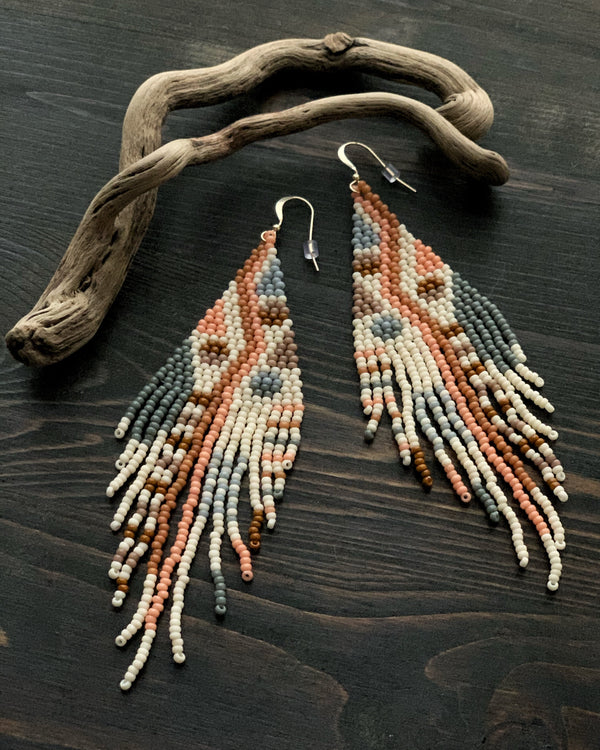 • CEDAR & ROSE • beaded dangle earrings