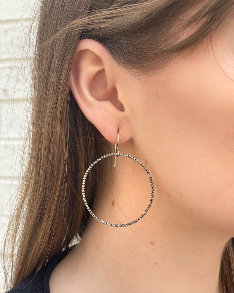• TRINITY HOOP • mixed metal earrings
