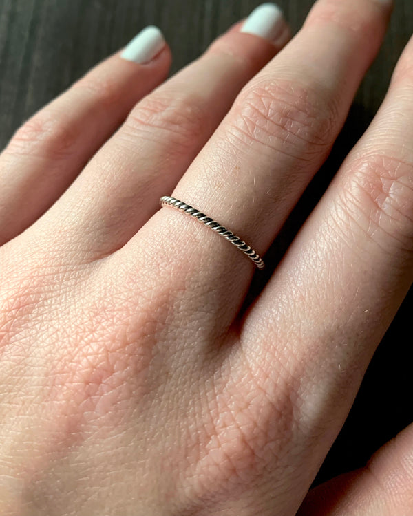 • TWISTED • silver stacking ring
