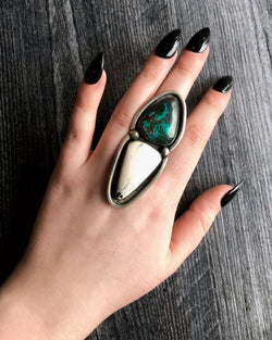 turquoise chrysocolla ring