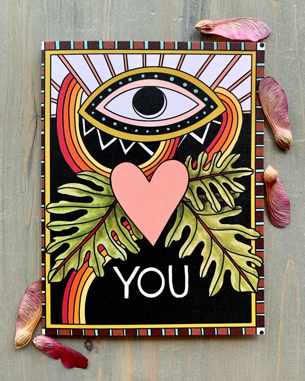 • EYE HEART YOU • medium note card