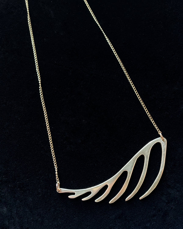 • FERN • brass necklace
