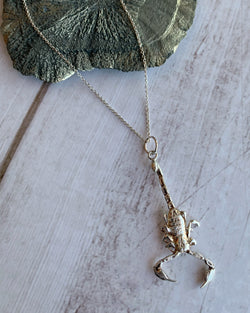 • SCORPION • silver necklace