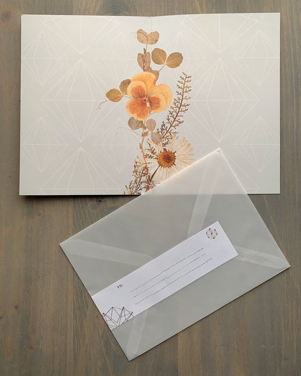 • GOLDEN GARDEN BIRTHDAY • luxe note card